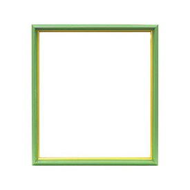 大額 色紙(242×272mm)用額 4953 8×9 ガラス仕様 (グリーン)[un]