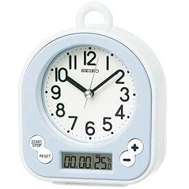セイコー クロック 掛け時計 置き時計 兼用 生活防水 タイマー 温度 表示 アナログ キッチン&バス 薄青 BZ358L SEIKO[un]