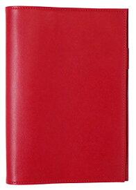 スリップオン ノートカバーA5 WDS 合皮 レッド WDS-1901[un]