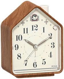 セイコー クロック 目覚まし時計 ネイチャーサウンド アナログ 切替式 アラーム PYXIS ピクシス 茶 木目 模様 NR444A SEIKO[un]