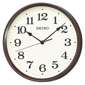 セイコー クロック 掛け時計 電波 アナログ 茶 メタリック KX223B SEIKO[un]