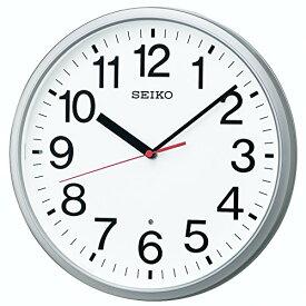 セイコー クロック 掛け時計 電波 アナログ 銀色 メタリック KX230S SEIKO[un]