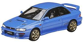 ホビージャパン MARK43 1/43 スバル インプレッサ WRX タイプR Sti Ver.1997 (GC8) スポーツホイール ソニックブルーマイカ 完成品[un]