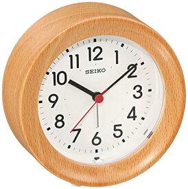 セイコー クロック 掛け時計 置き時計 兼用 アナログ アラーム 木枠 天然色木地 KR899A SEIKO[un]