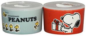 「 PEANUTS(ピーナッツ) 」 スヌーピー カラフル ピーナッツ キャニスター(保存容器 レンジパック) 2点セット (ギフト箱入) SN450-82-2[un]
