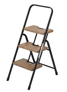 シービージャパン 脚立 踏み台 木目調 折りたたみ 3段 フォールディング ステップ 耐荷重100kg 室内外用 folding step[un]