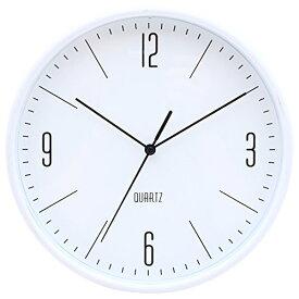 不二貿易(Fujiboeki) 置き時計・掛け時計 ホワイト 直径25.5cm スイープムーブメント ホーン 26330[un]