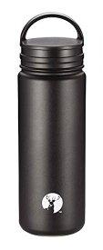 キャプテンスタッグ(CAPTAIN STAG) スポーツボトル 水筒 直飲み 真空断熱 ダブルステンレス 保温・保冷 広口タイプ スクリュー栓/フラップ栓 HD 2wayボトル 500ml ブラック UE-3482[un]