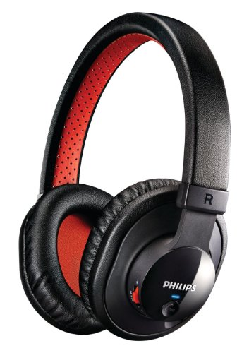 フィリップス Philips SHB7000 ブラック Black ブルートゥース対応 Bluetooth コードレス 2way ヘッドフォン ヘッドセット【並行輸入品】