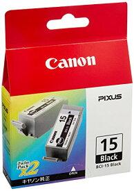 Canon 純正インクカートリッジ BCI-15 ブラック 2個パック BCI-15BLACK[cb]