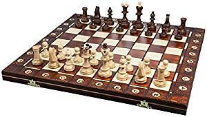 ポーランド製 木製チェスセット41cmチェス盤チェス駒セット Poland wood chess [並行輸入品][cb]