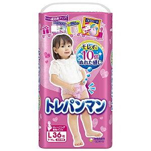 トレパンマン L (9~14kg) 女の子 36枚[トイレトレーニング][cb]