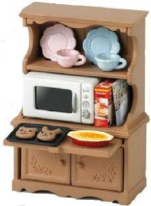 シルバニアファミリー 家具 食器棚・オーブンレンジセット カ-413[cb]