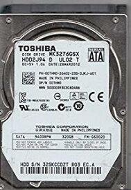 東芝 512セクター 2.5インチ SATA接続ハードディスク 5400rpm 320GB MK3276GSX[cb]