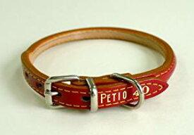 ペティオ (Petio) ニュー丸首輪 赤 長毛・小型犬用 35[cb]