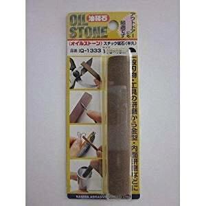 ナニワ(NANIWA) オイルストーン 油砥石スチック 半丸 100×16mm IQ-1333[cb]