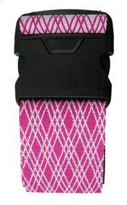 JTB ワンタッチスーツケースベルト(菱形柄) ピンク 205110