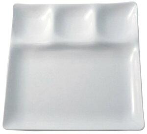 パーティープレート スリーワンプレート 253×253×26mm ホワイト ZA-395588