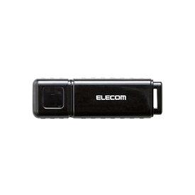 エレコム USBメモリ 32GB セキュリティソフト対応 ストラップホール付 1年間保証 ブラック MF-HSU2A32GBK[cb]