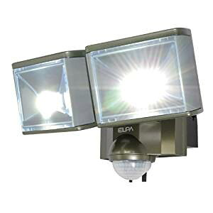 ELPA 屋外用センサーライト AC電源 8wLED 2灯 ESL-802AC[cb]