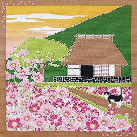ヤマコー たまのお散歩 小風呂敷 秋桜 88593
