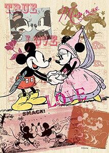 300ピース ジグソーパズル ウッドパズル コミックアート・ミッキー&ミニー(18.2x25.7cm)[cb]