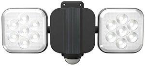 ムサシ RITEX フリーアーム式LEDセンサーライト(8W×2灯) 「コンセント式」 防雨型 LED-AC2016[cb]