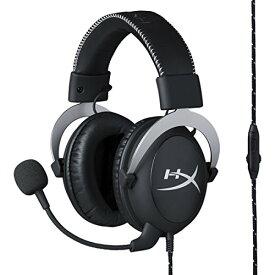 キングストン ゲーミングヘッドセット HyperX Cloud Silver HX-HSCL-SR/NA ブラック/シルバー インライン音量コントロールBox付属 2年保証[cb]