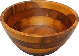 丸和貿易 木製食器 アカシア サラダボール2型 (L) 100374903