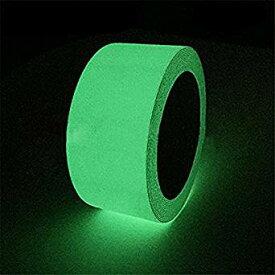 Pursue 高輝度蓄光テープ 蛍光テープ 非常時 防災対策品 キッチン廊下 階段 屋外 壁 出口標識 幅5cm×長さ5M[cb]