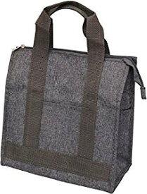 トルネ ランチバッグ・ランチ巾着・ランチベルト グレー 角型 保冷弁当袋 P-3407[cb]