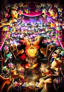 500ピース ジグソーパズル ディズニー とくべつな時間(ミッキーミニー) ぎゅっとシリーズ 【ピュアホワイト】 (25x36cm)[cb]