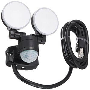 ELPA エルパ コンセント式 センサーライト 2灯 お手軽タイプ 省エネ 安心の防水仕様 ESL-SS412AC[cb]