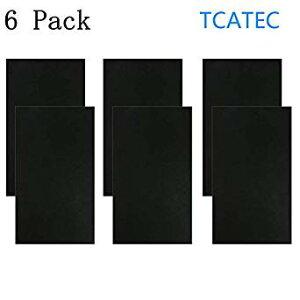 TCATEC レザーシール 黒 貼るレザー 合皮補修シート 15*25CM 補修テープ 革 家具 ソファ シート 財布 バッグ 修理用 6枚セット[cb]