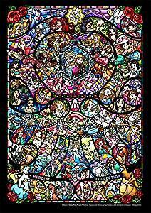 266ピース ジグソーパズル ディズニーディズニー/ピクサー ヒロインコレクション ステンドグラス ぎゅっとシリーズ 【ピュアホワイト】 (18.2x25.7cm)[cb]