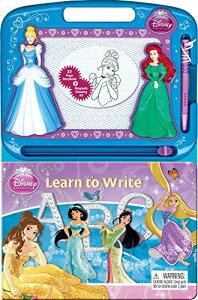 Disney Princess LEARN TO WRITE ディズニー プリンセス お絵かきボードと絵本のセット 英語版 英語の学習に