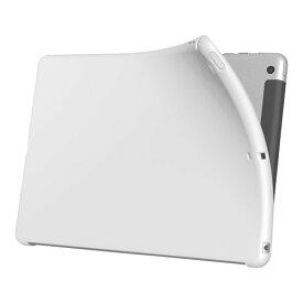 iBUFFALO iPad Air専用 ソフトケース 液晶保護フィルム付 マットホワイト BSIPD13TMWH