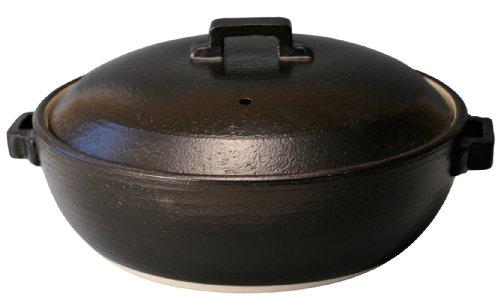 マルヨシ陶器 STYLE 土鍋 BLACK IH9号 M0226