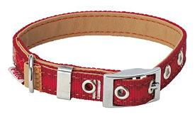 ペティオ (Petio) 首輪 ベーシックプラス ロンバスカラー レッド 中型犬用 Mサイズ