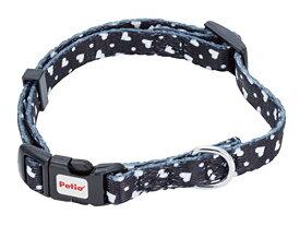 ペティオ (Petio) 首輪 ARFashion ハートドットカラー ブラック 犬用 Sサイズ