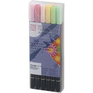 呉竹 水性ペン ZIG アート&グラフィック ツイン ペール 12色 TUT-8012VPA