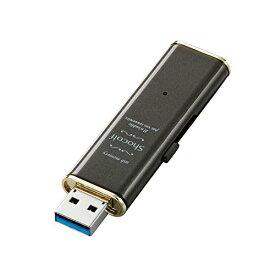 エレコム USBメモリー USB3.0対応 Windows10対応 Mac対応 スライド式 32GB ビターブラウン MF-XWU332GBW