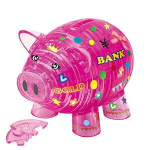 93ピースジグソーパズル ブタの貯金箱・ピンク