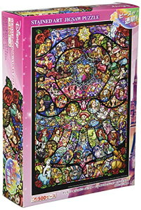 500ピース ジグソーパズル ディズニーディズニー/ピクサー ヒロインコレクション ステンドグラス ぎゅっとシリーズ 【ステンドアート】(25x36cm)
