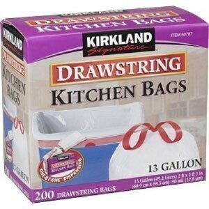 KIRKLAND カークランド ひも付きゴミ袋 キッチンバッグ ごみ袋 200枚