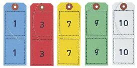オープン工業 紙製連番荷札(5色500枚入)BF-105