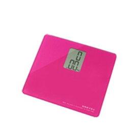 DRETEC ボディスケール 「プティ」 【A4サイズよりもコンパクトなガラス製体重計】 ピンク BS-113PK