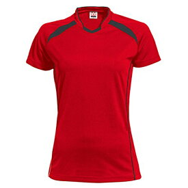 wundou(ウンドウ) ウィメンズ バレーボールシャツ 吸汗 速乾 レッドXブラック P1620 レッドXブラック XL