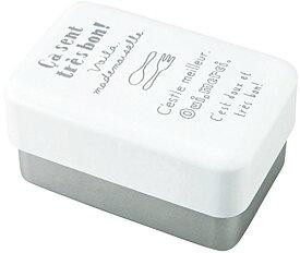 お弁当箱 ルパ レクランチ L ホワイト (上段)360ml、(下段)540ml T-46581