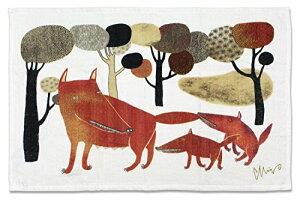 今治タオル ランチョンマット ミウ ティータオル オオカミ (テケテケのうた) レッド 45×70cm
